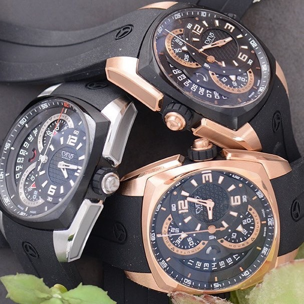 Cyrus Watches Klepcys Chronographe, Steel & DLC, Rose gold & DLC, Full Rose gold