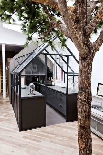 An Ikea Kitchen in a Greenhouse, Paris Edition