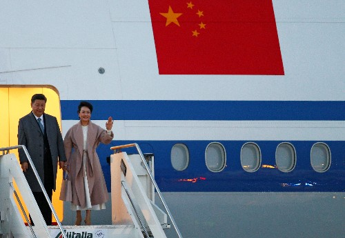 Chinese president lands in Italy, set to sign Belt and Road deal