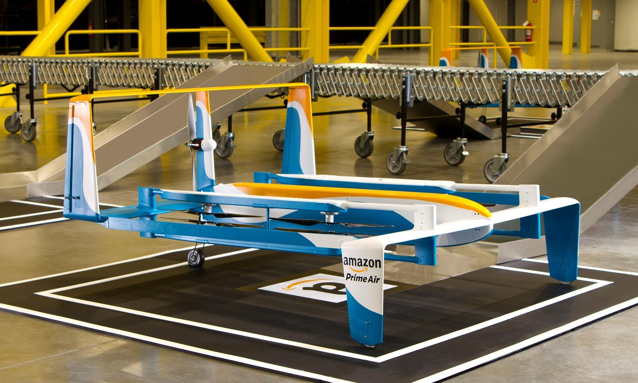 Amazon unveils hybrid drone prototype to make deliveries within 30 minutes