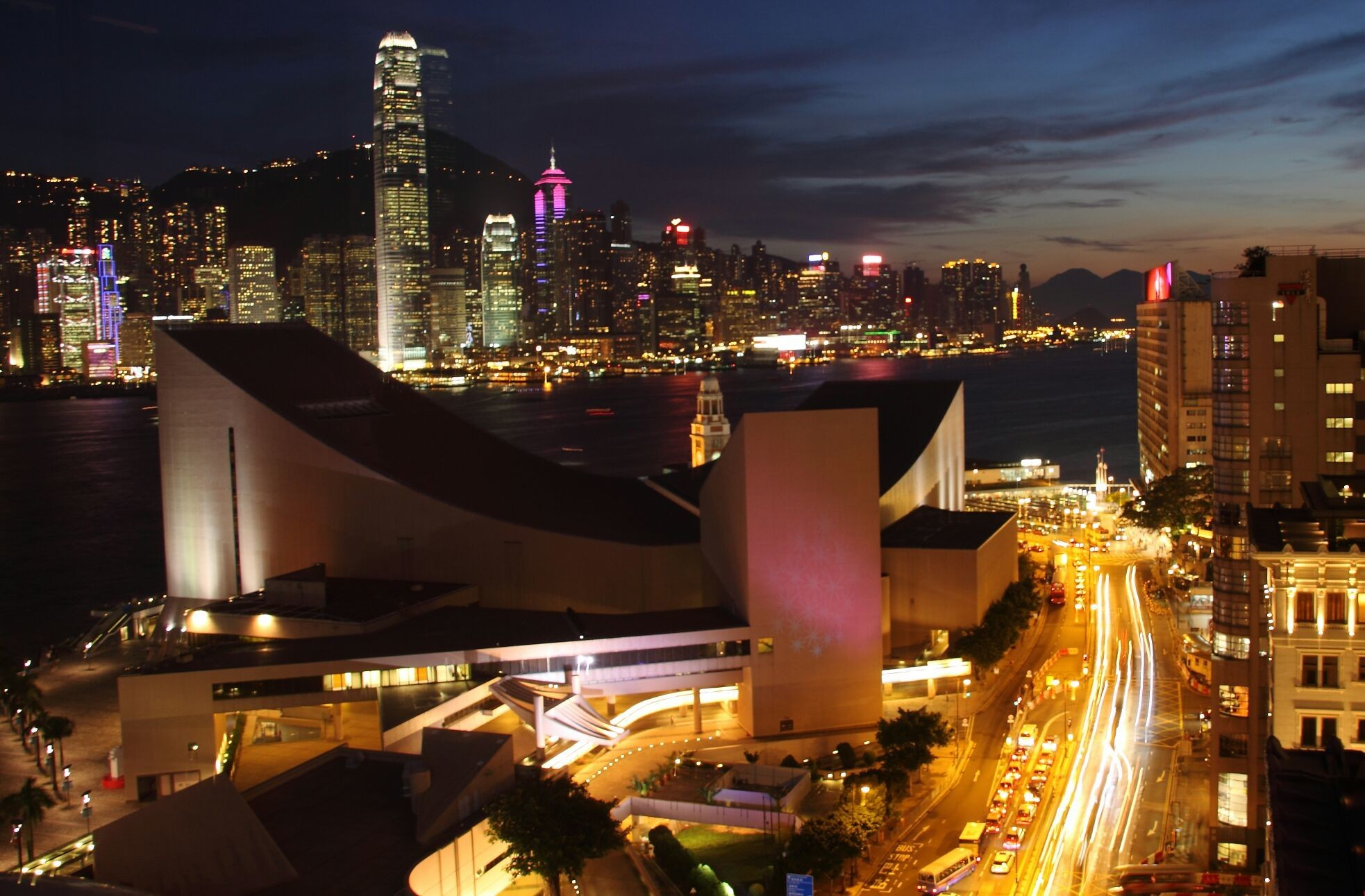 Sheraton hotel view. Kowloon, Hong Kong, China.