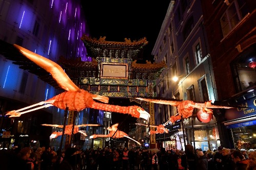 London's Lumiere Light Show in Pictures