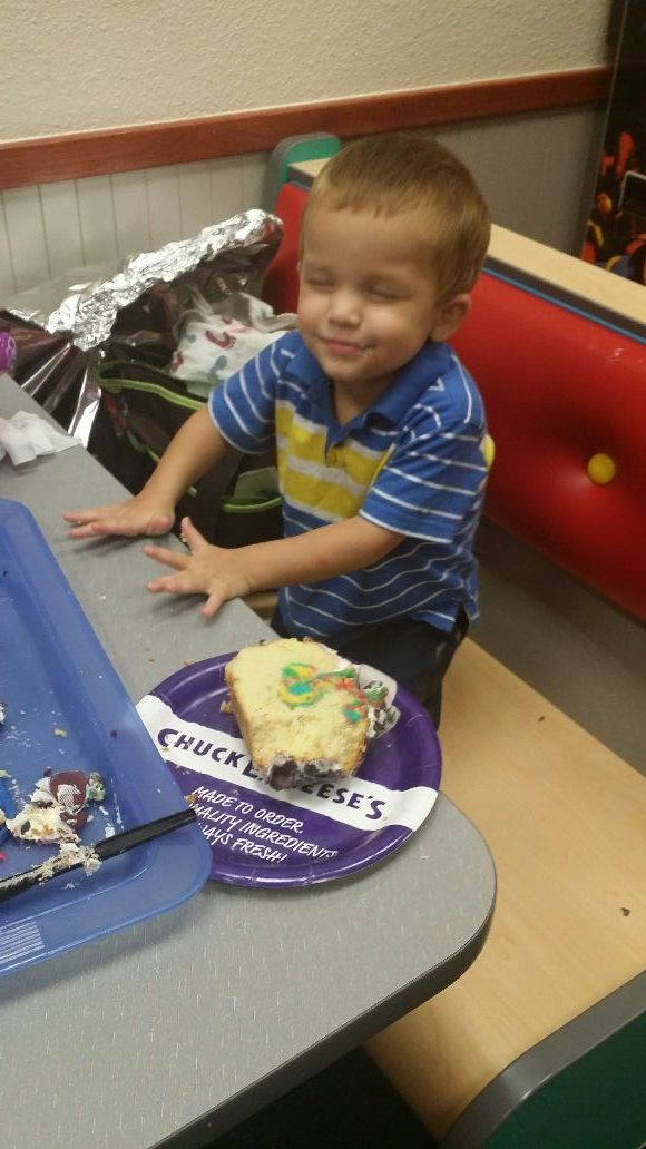 He loves his cake