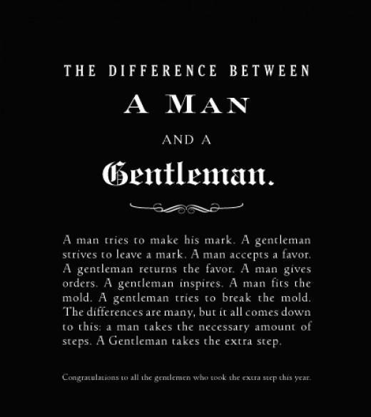 The difference between a Man and a #Gentleman