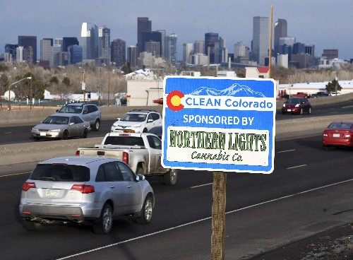 Pot shops turn to highway sponsor signs amid strict ad rules
