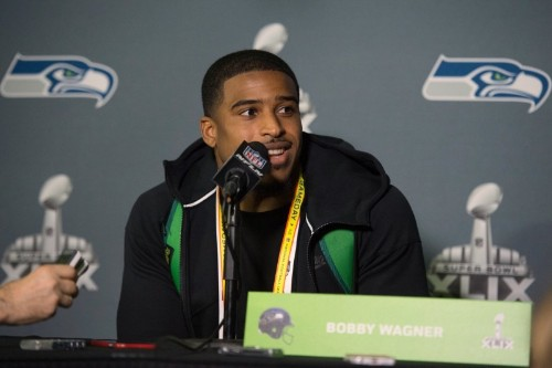 Seahawks' Wagner not practicing while seeking new deal