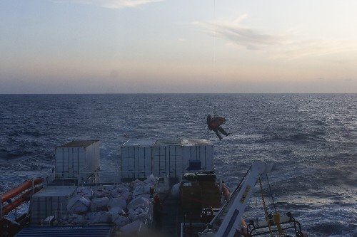 The Latest: Woman gives birth after airlift from rescue ship