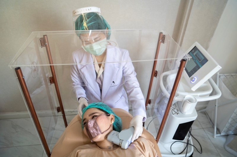 Thai clinic offers mini face mask for up close beauty treatments