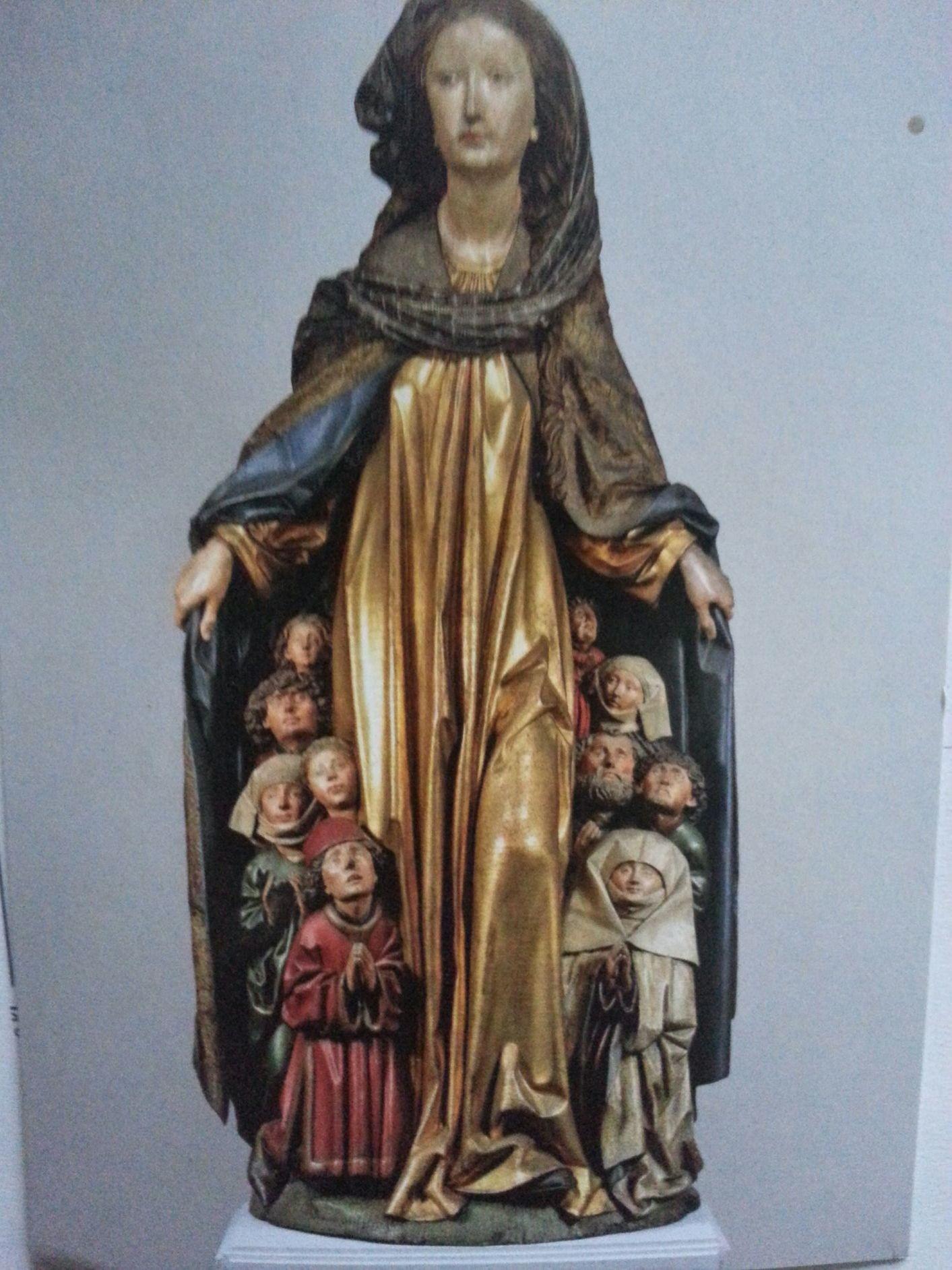 Hl. Maria mit Schutzmantel Grabstein