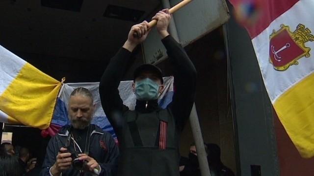 Ukraine releases protesters; Prime Minister visits Odessa after blaze