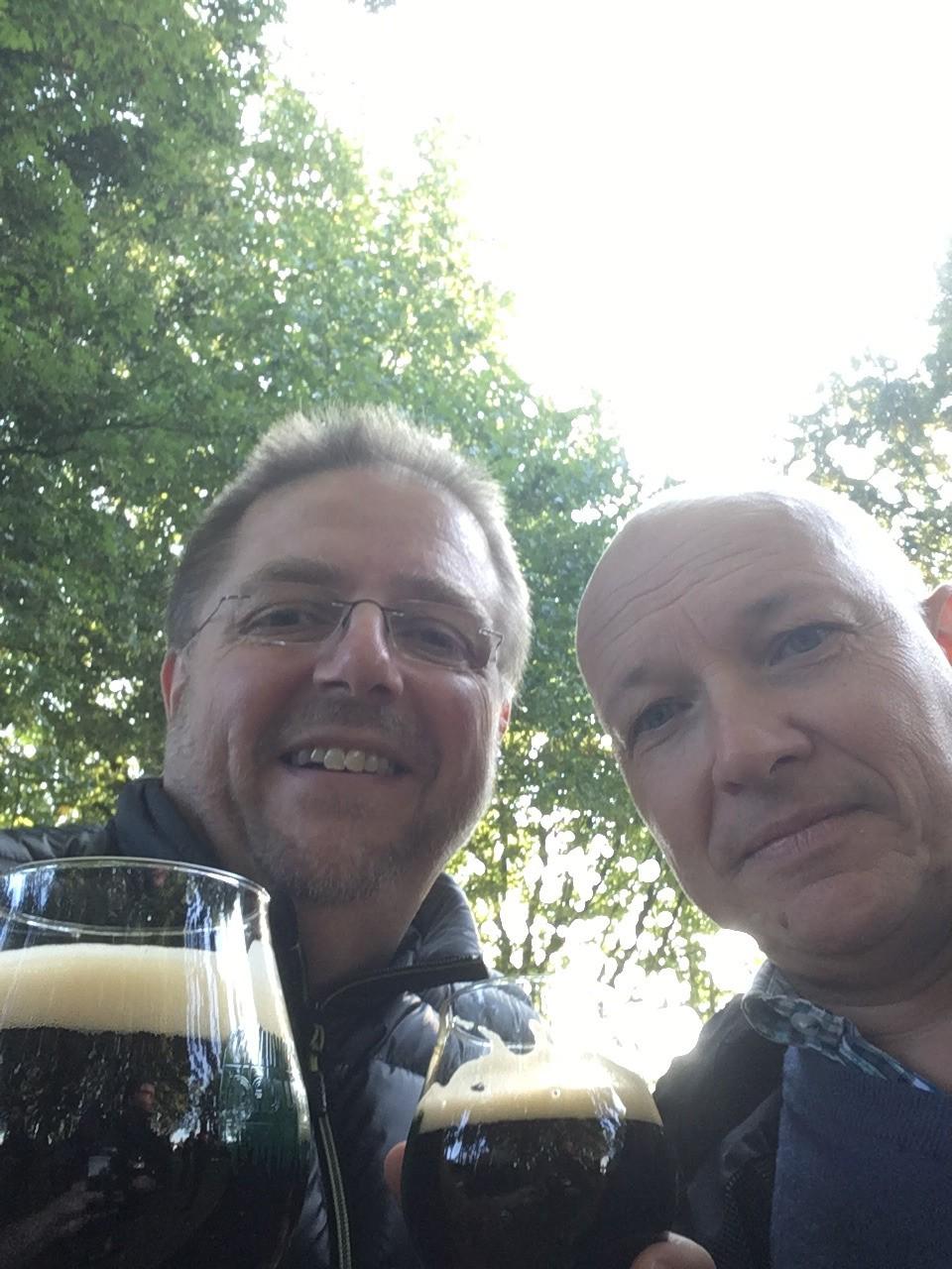 Twee blije brouwers op de Dauwtrip 2016.