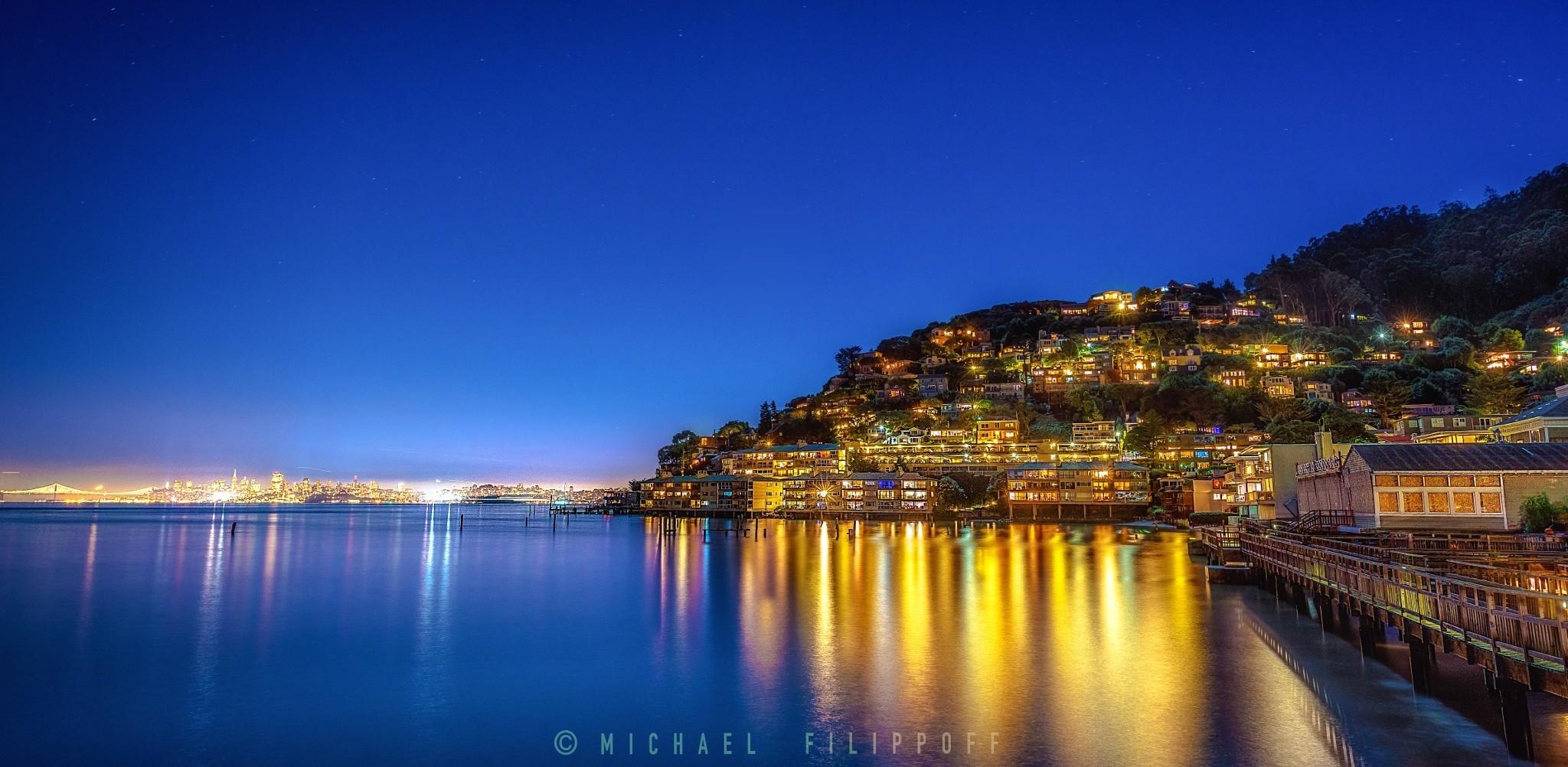 Sausalito by night
