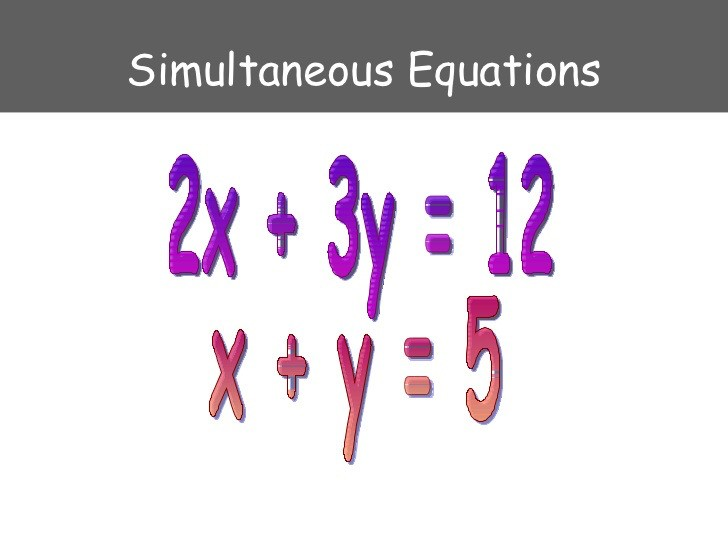 Second years we are currently studying Simultaneous Equations ....we are about to go on midterm break! Why not reflect on what we've done in class & give this question a go👍