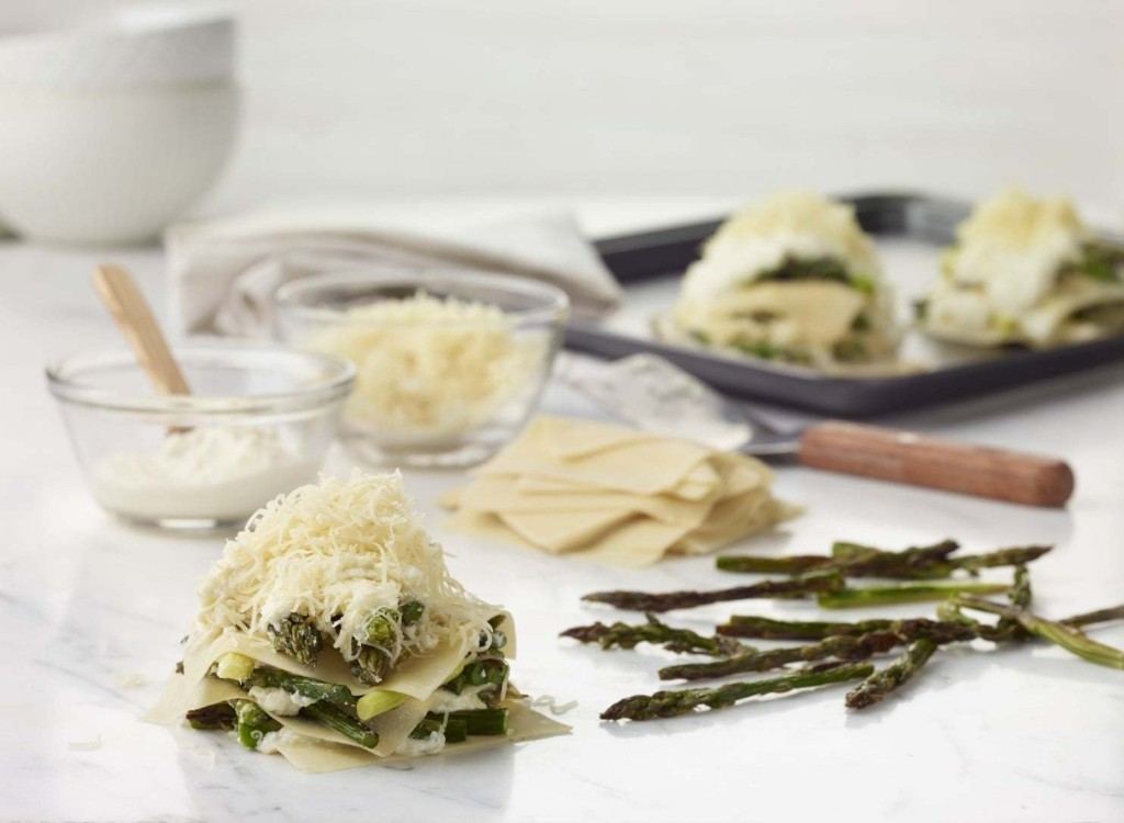 This asparagus lasagna is perfect for spring