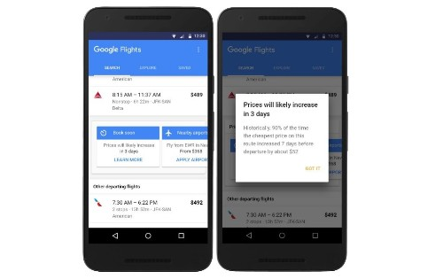 Google Flights will now tell you when fares will increase, help you find cheaper tickets