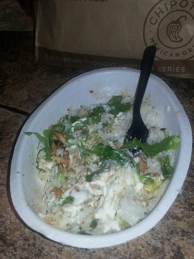 I had CHIPOLE I was so goog I had a bowl