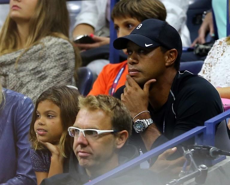 Tiger Woods and daughter, Sam, enjoy U.S. Open match Friday night