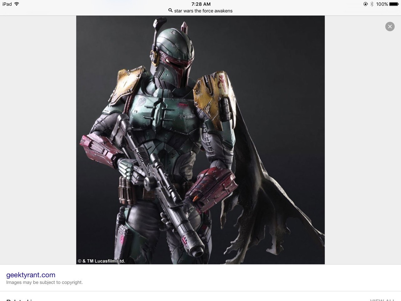 Bobba fett would look a lot cooler like this