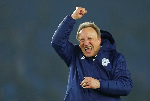 Soccer: Cardiff's Warnock hopes to avoid thrashing by Liverpool