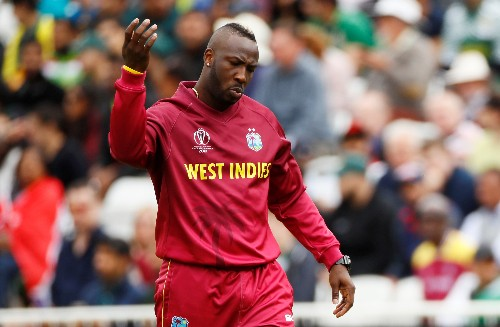 Cricket: Windies' Russell cleared of serious injury after head blow