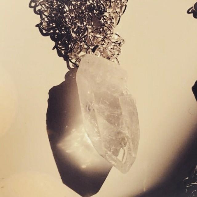 rock crystal pendant $20 #dearprudenceshop