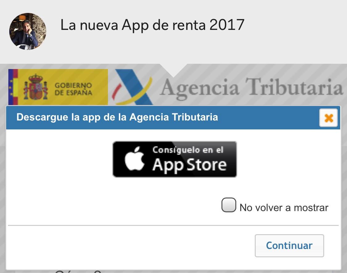La nueva App de renta 2017