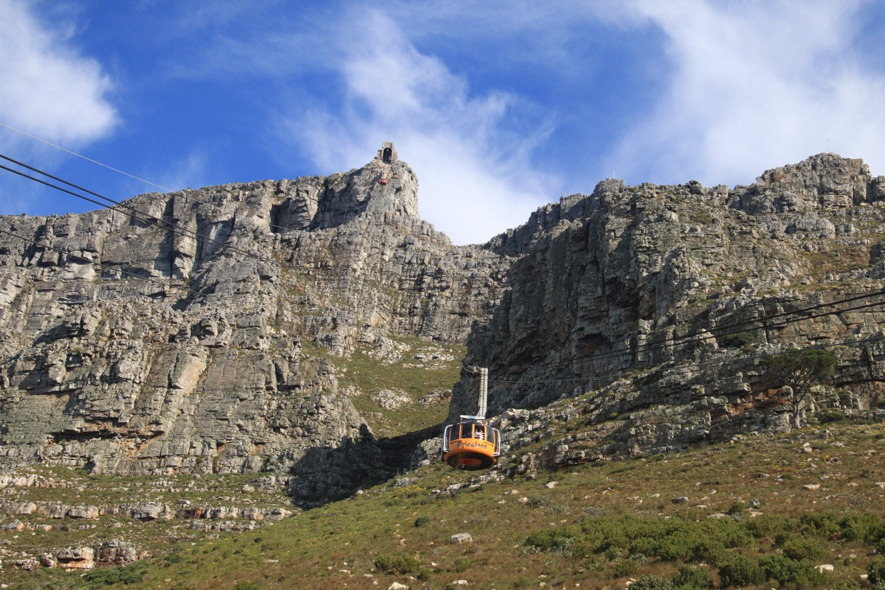 Table Mountain in Cape Town South Africa.