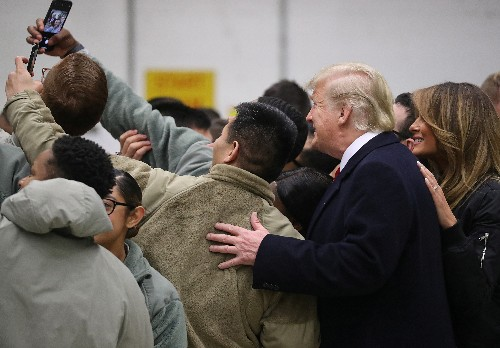 In a first, Trump makes surprise visit to U.S. troops in Iraq