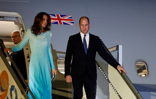 Prince William and wife Kate arrive in Pakistan for five-day visit