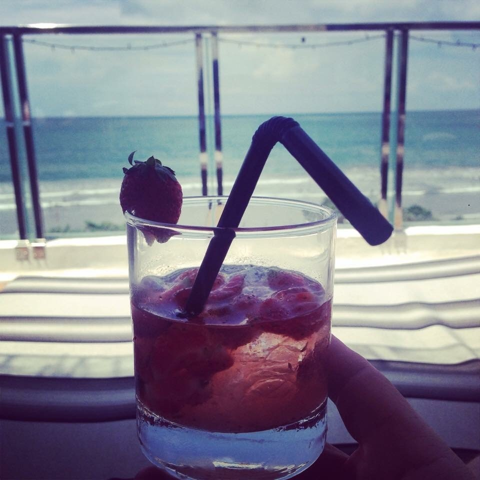 Strawberry capricious in Bali with a view
