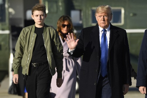 Aide: Media ignores Trump's loving bond with 13-year-old son