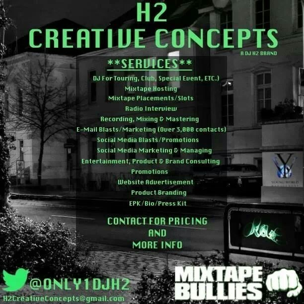 @Only1DjH2 PRODUCTS AND SERVICES!!! For Booking, Interviews, or Mixtape Hosting Contact: Sunny Crosby (@RealSheDiddy) 786.325.1982 BookDJH2@gmail.com My Latest V-Blog DJ H2 Video Blog (Full Circle Edition)  ***VISIT  DOWNLOAD ALL MY MIXTAPES***