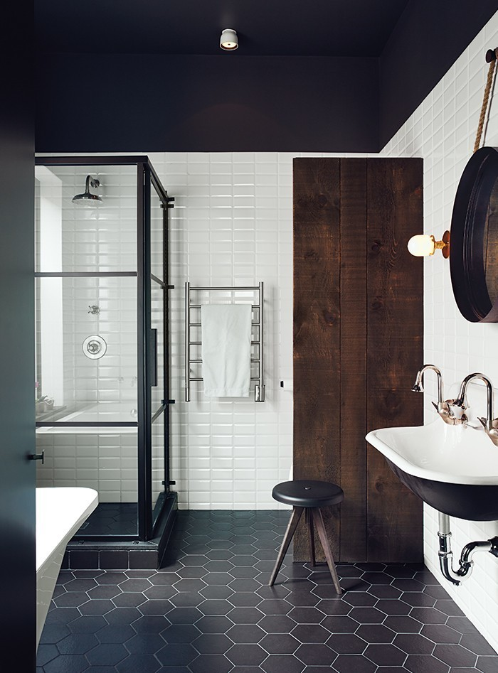 Articles about black and white bathroom inspiration on Dwell.com - Dwell