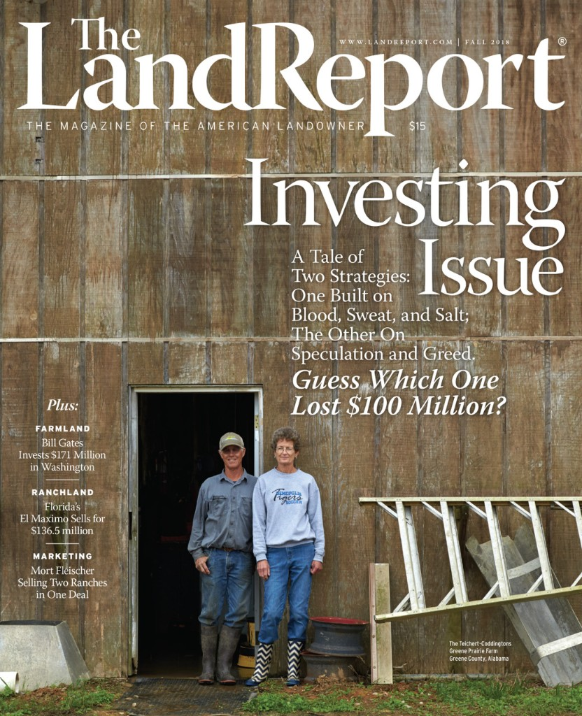 THE LAND REPORT | FALL 2018 - cover