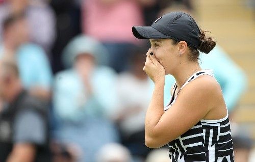 Tennis: New world number one Barty out of Eastbourne with arm injury