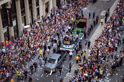 Womens Soccer Team Parade in NYC