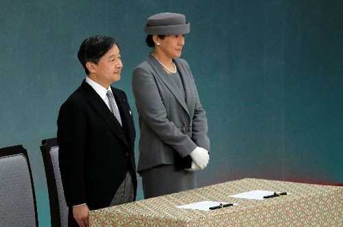 Japan's new emperor echoes father, expresses deep remorse over war