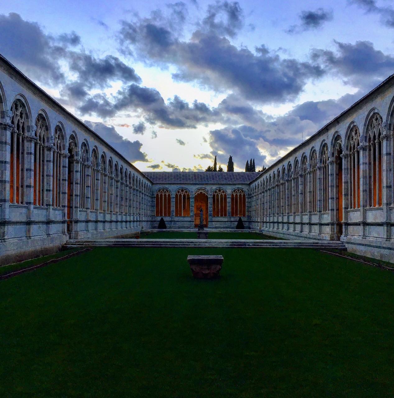 Il Camposanto di Pisa al crepuscolo (marzo 2018)
