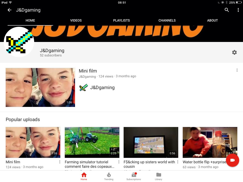This is a story of when i started my youtube channel let me guide you This is my channel