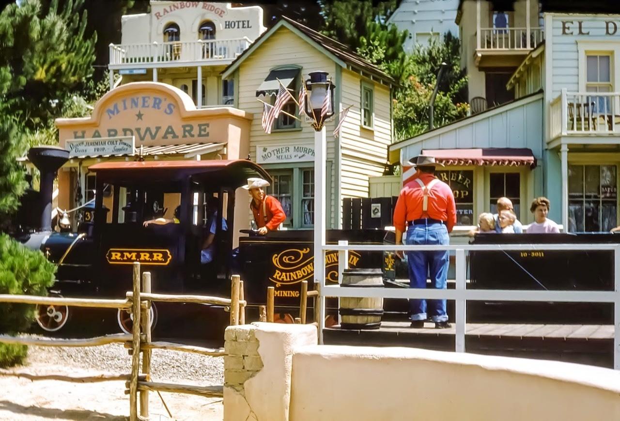 Daily Vintage Disneyland: Rainbow Caverns Railroad Mine Train from 1959 at Disneyland's Frontierland #disney #disneyland #frontierland