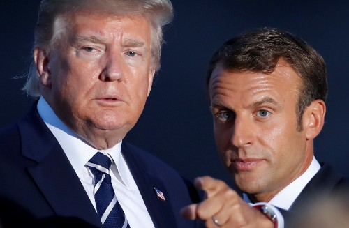 Trump, Macron to meet press together in France Monday