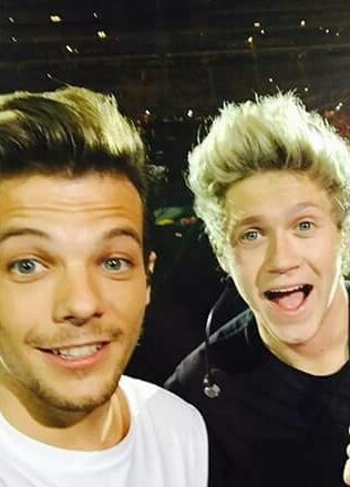 niall horan with louis tomlinson