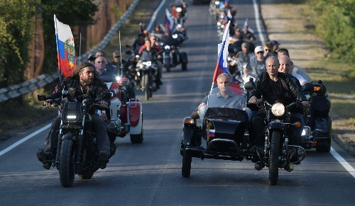 Ukraine protests Putin's trip to motorcycle show in Crimea