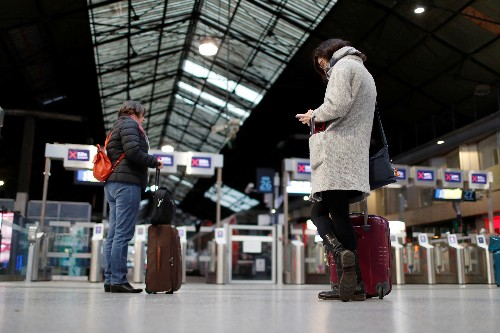 French travelers face train disruption as pension strikes go on