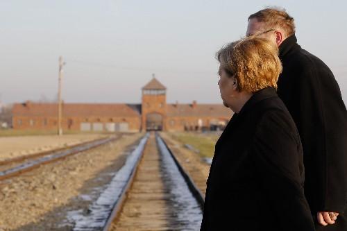 Germany's Merkel voices 'shame' during 1st Auschwitz visit