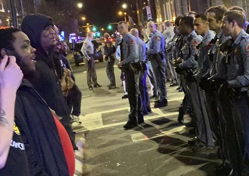 Hundreds protest after North Carolina police shooting