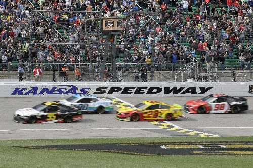 The Latest: Hamlin wins chaotic NASCAR elimination race