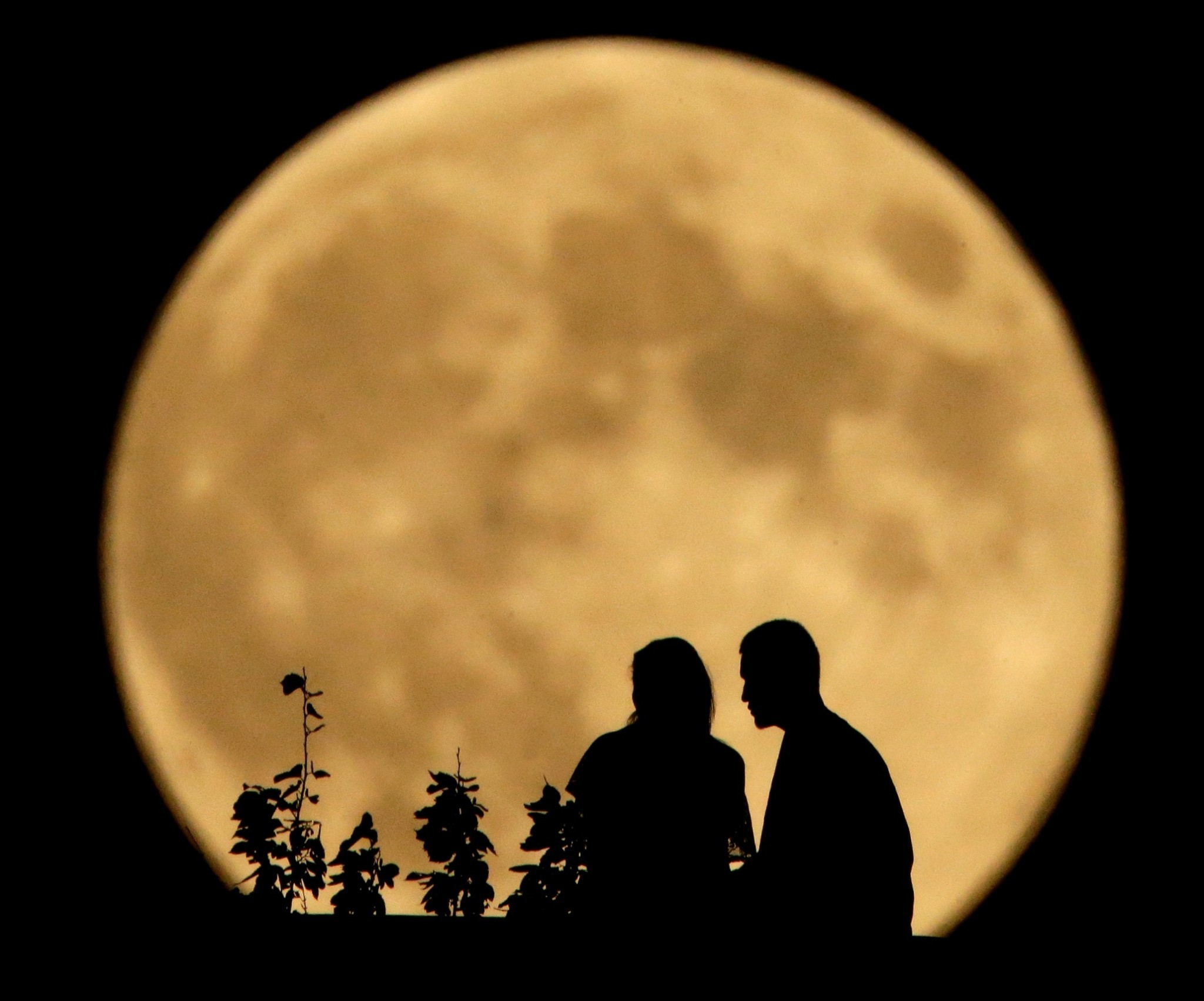 The last supermoon – in pictures
