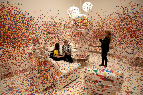 Art Exhibit by Yayoi Kusama at the Hirshhorn in DC: Pictures