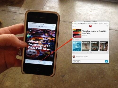 Use This Shortcut to Add Content to Your Magazines From Your Mobile Devices